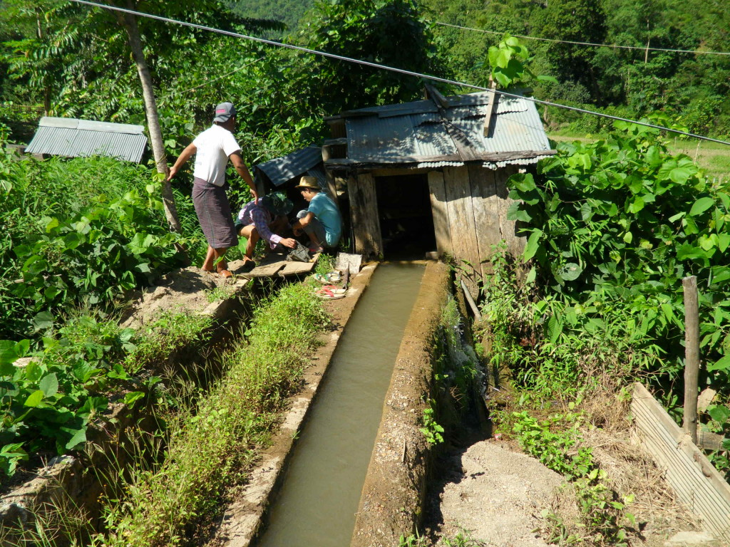 Hydroelectric power generated by villagers for their households in Wan Hsala.