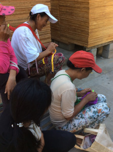 Women working in Xiao shaba village
