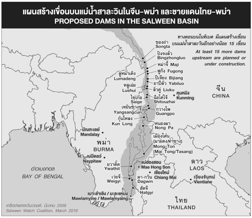 Planned Dams on the Salween River