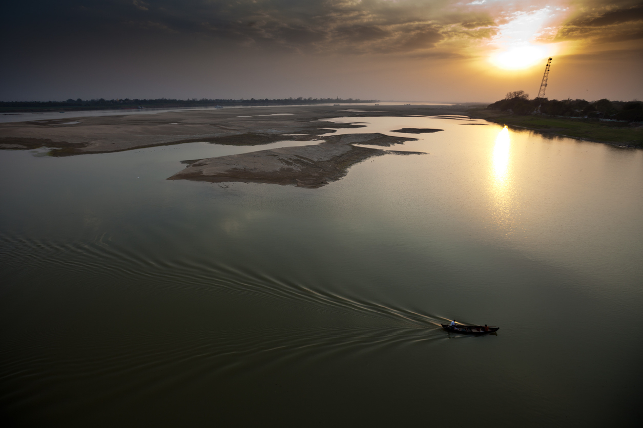 Aerial view of Myanmar's Irrawaddy River. Photo: iStock/Getty Images
