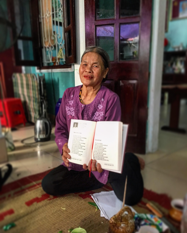 Local poet in Duong Lam, Vietnam