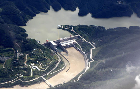 Jinghong Hydropower Station in Yunnan province (Source: AP)