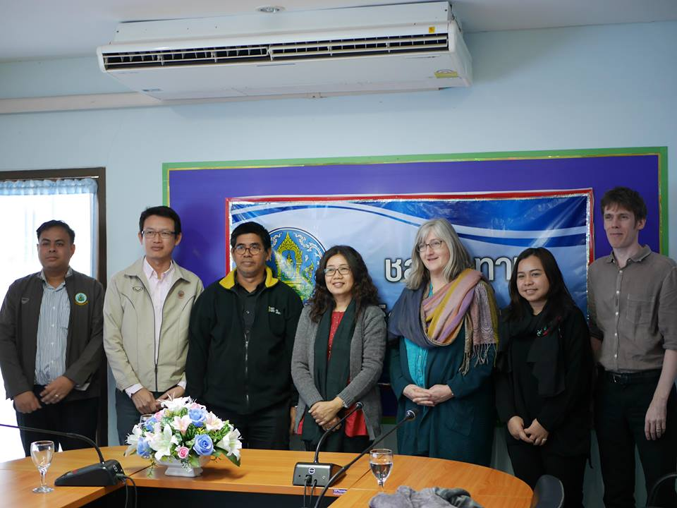 Research team with RID officials