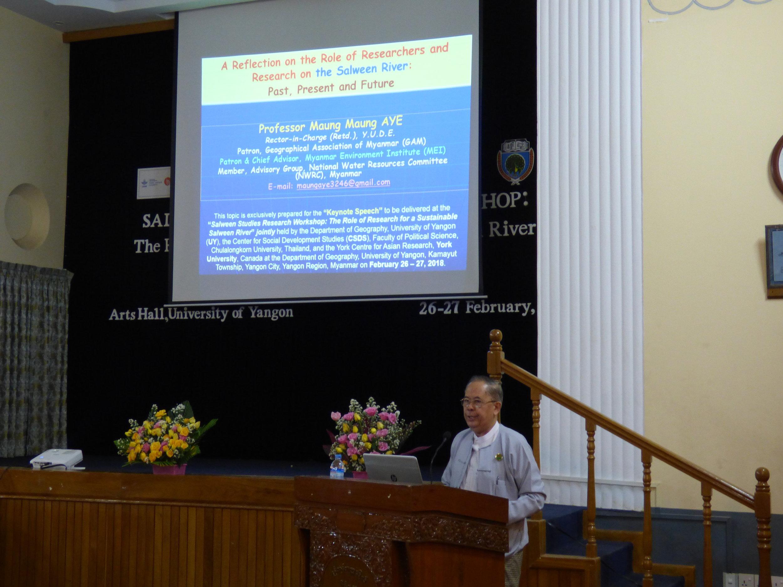 Prof. Maung Maung Aye