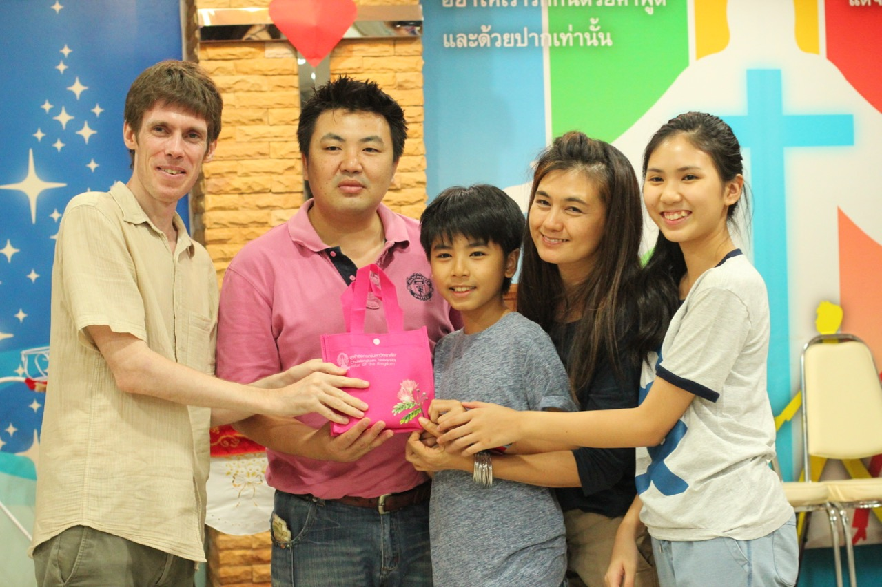 Prizes were shared at the end of the Kitchen Challenge at the Thai Family Foundation