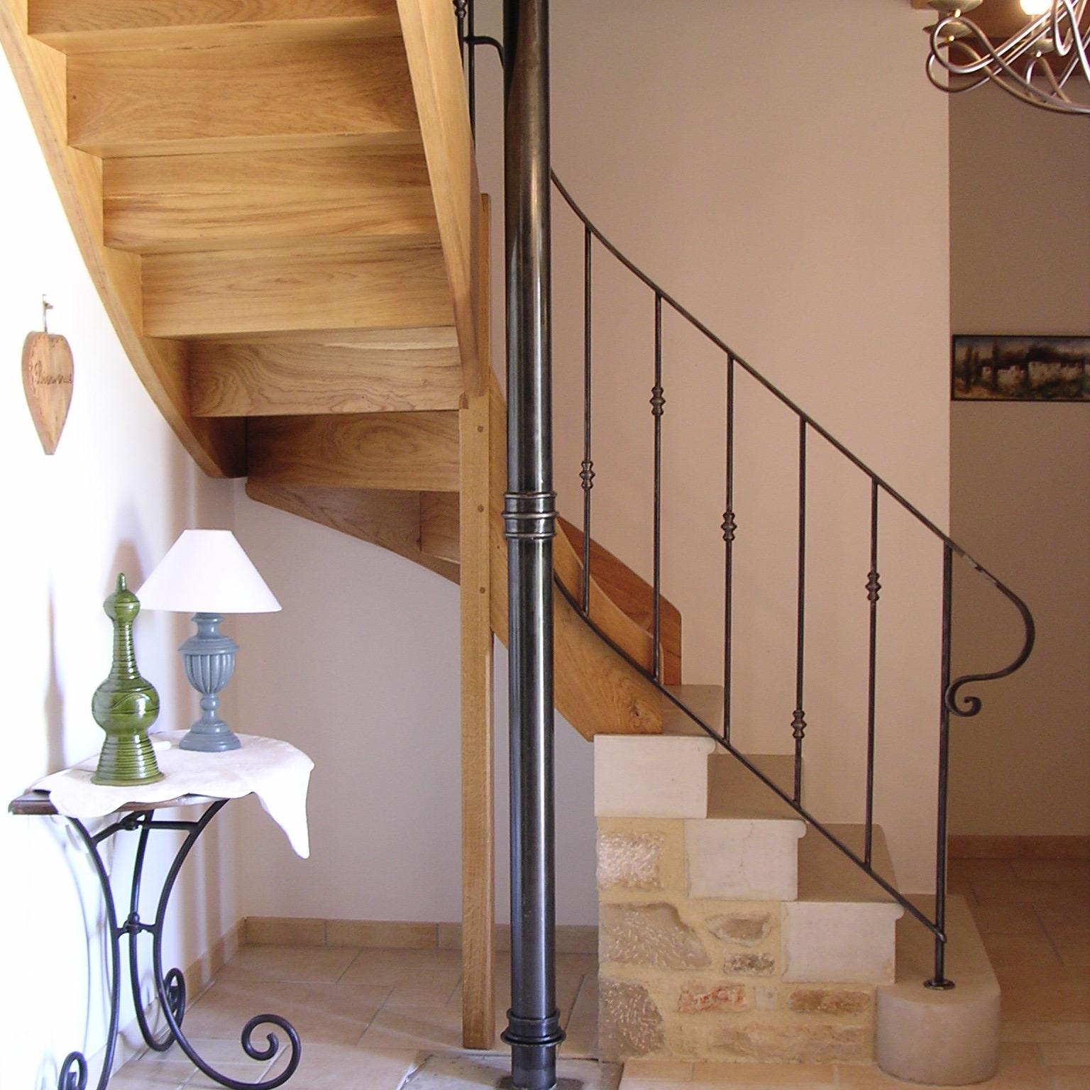 Rampe d'escalier en fer 'Bobbin'