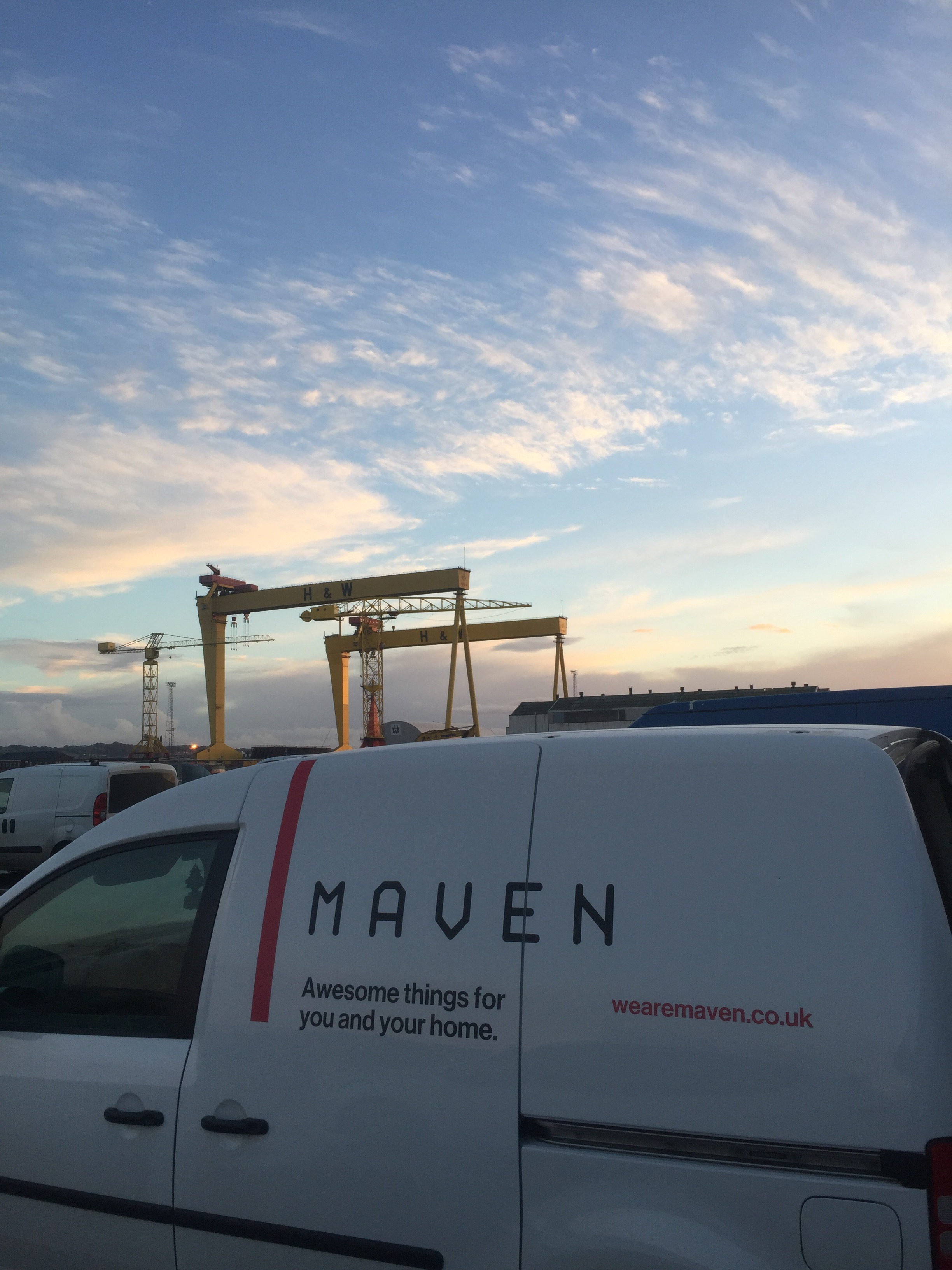 Wouldn't be without our trusty Maven van!