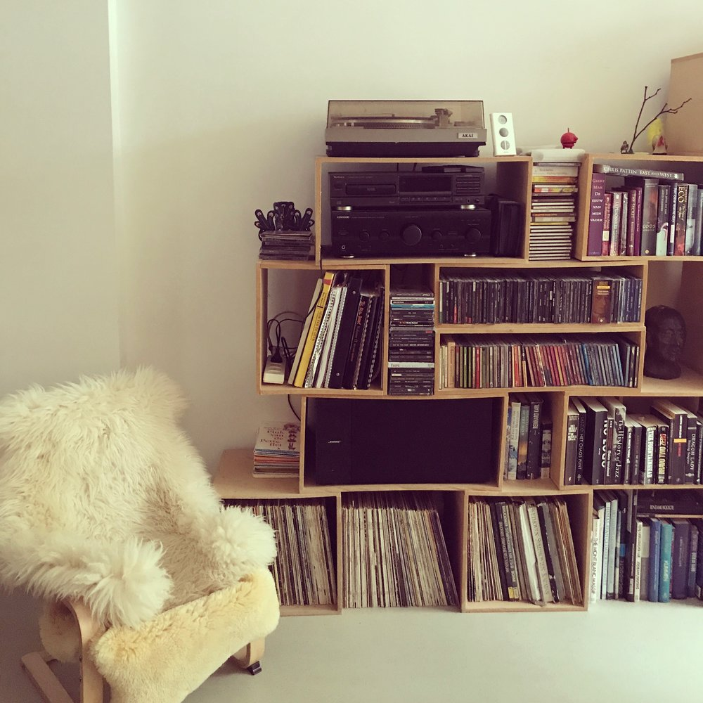 All of the vinyl in our AirBnb.