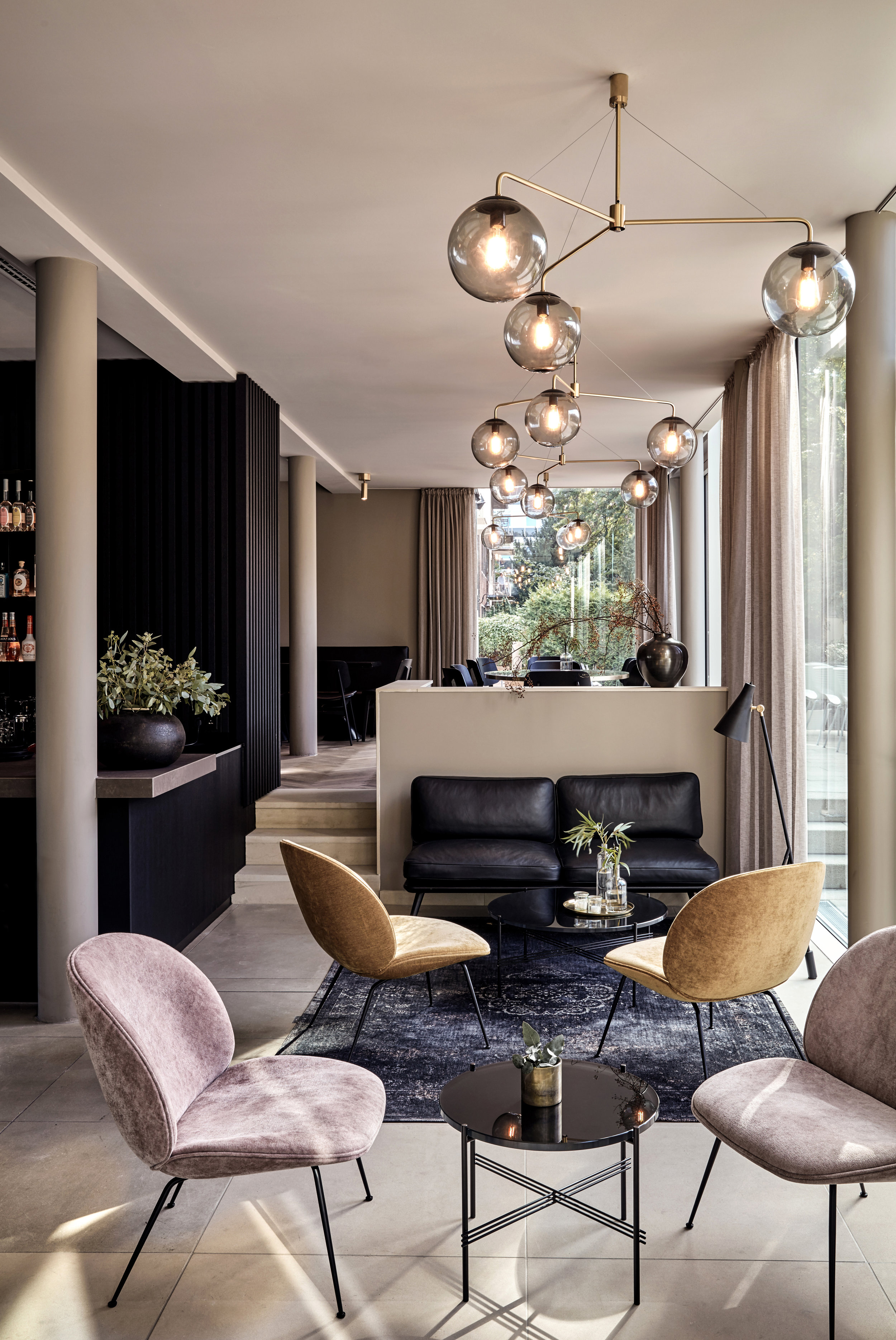 Gubi Lounge chairs at the Hotel Mauritzhof, Germany