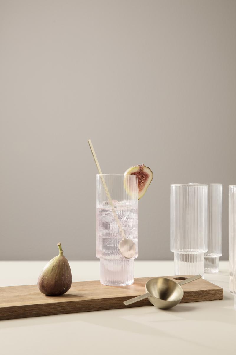 Ferm Living - Ripple Long Drinks Glasses - £49