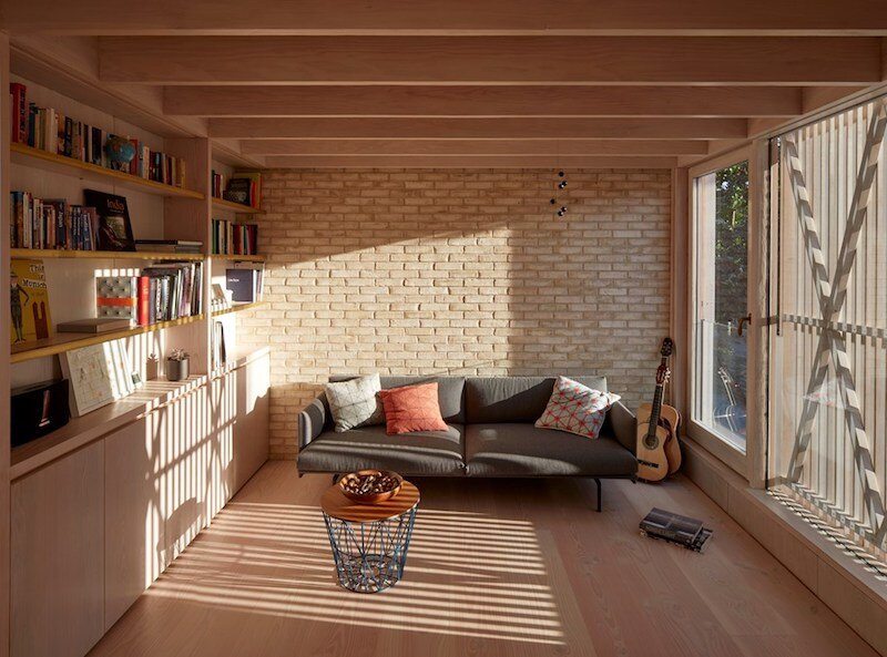 Outline Sofa & Tile Cushions from Muuto and Wire Basket & Lid from Ferm Living in the Pocket House by Tikari Works.