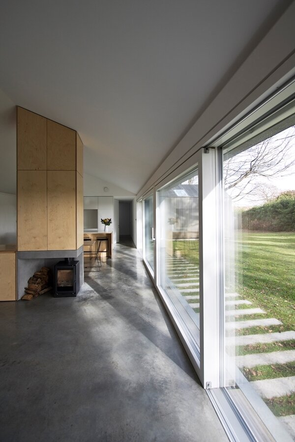Hee Bar Stools and Dining Chairs from Hay in Hill House Passivhaus by Meloy Architects