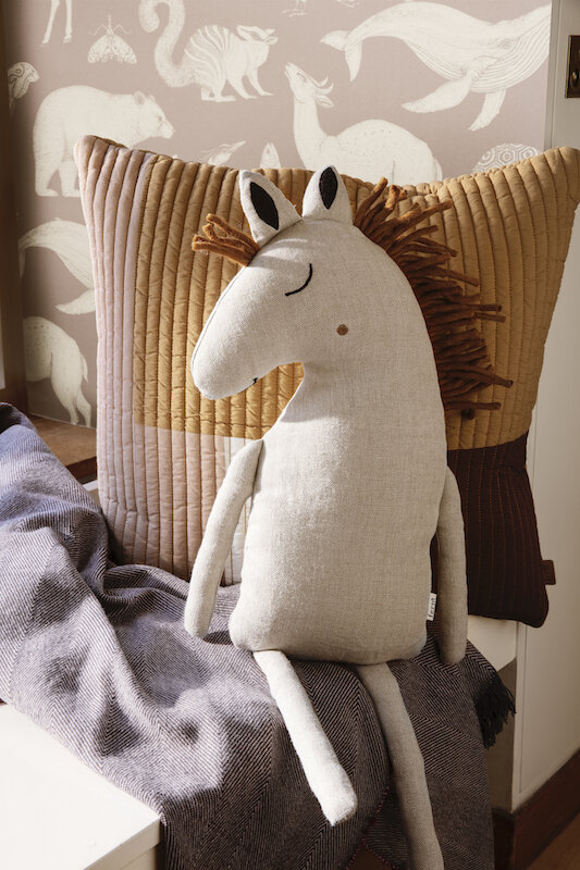 Safari Horse Cushion £49