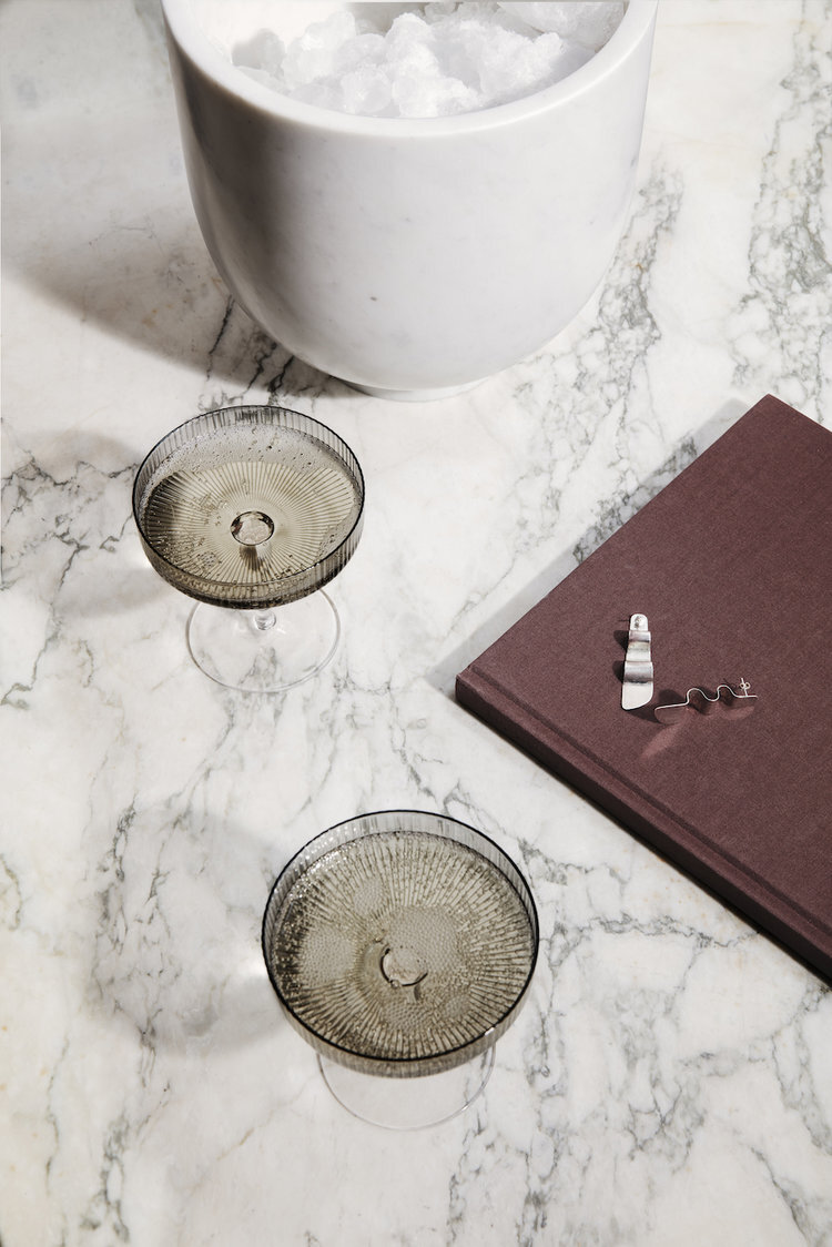 Ripple Champagne Saucers (Set of 2) £35