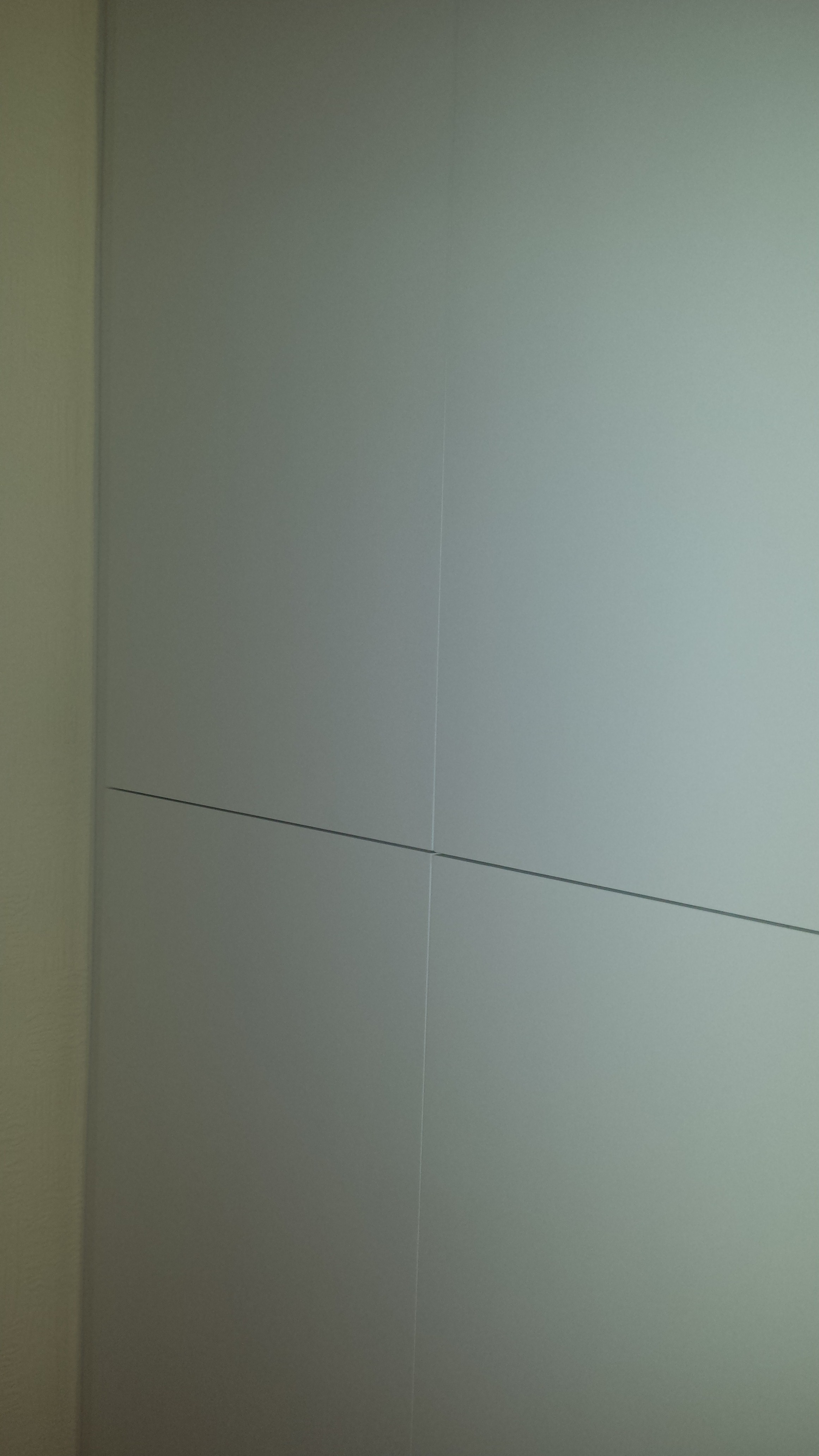 Flush, white sprayed doors