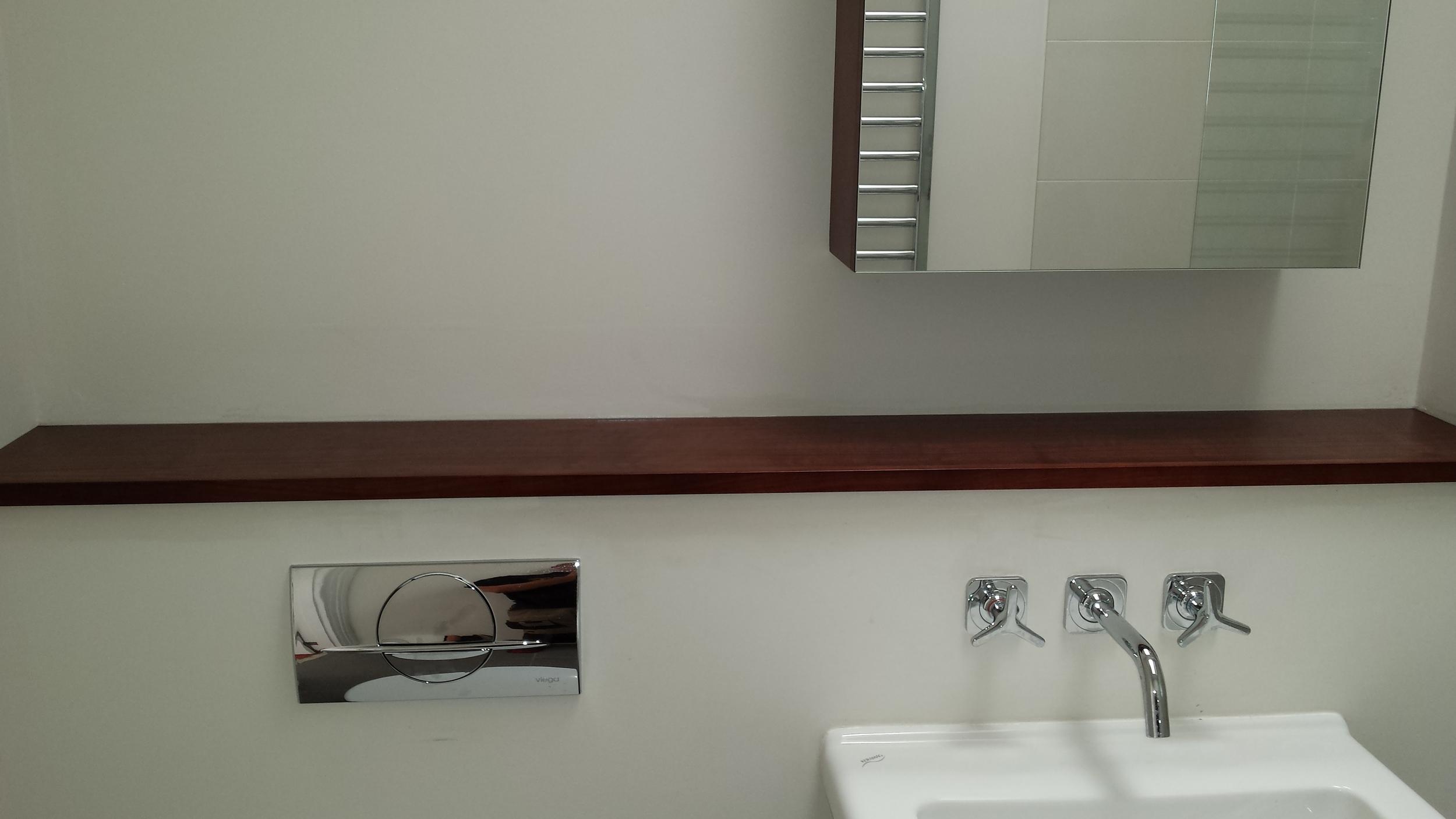 Showeroom shelf/cistern cover