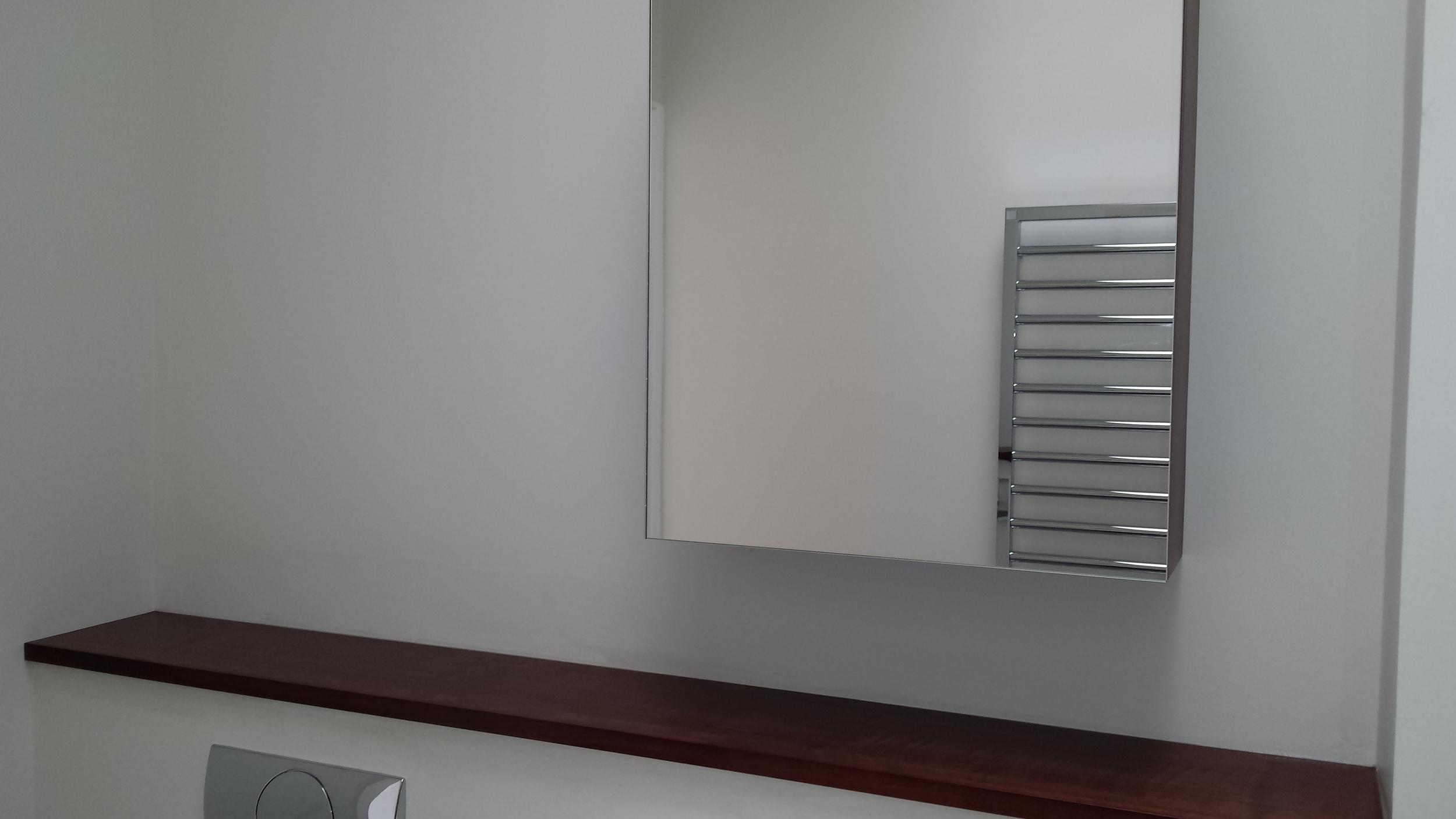 Shelf & bathroom cabinet