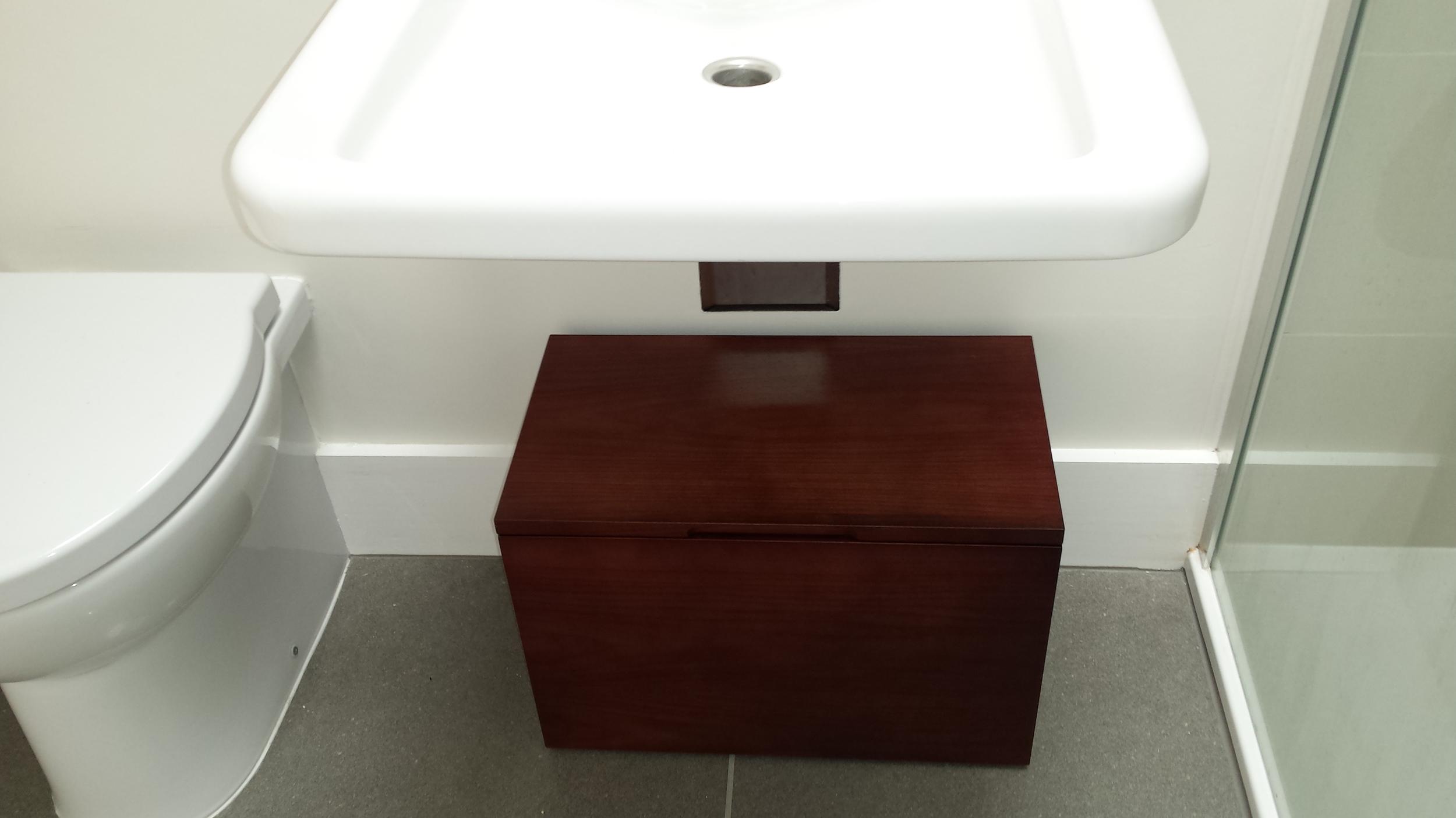 Showeroom storage box