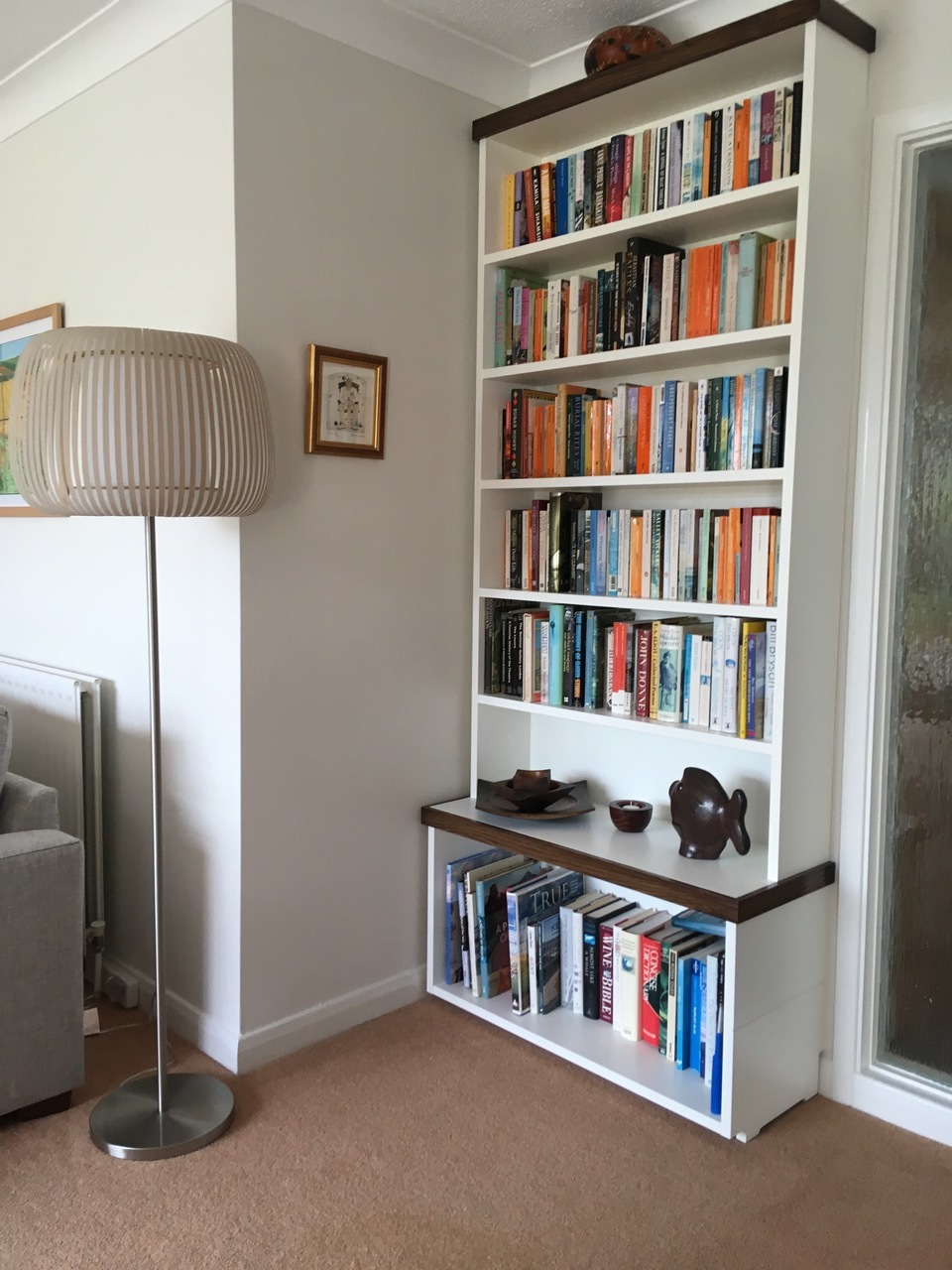 Companion bookcase - We were asked back to make this companion bookcase which compliments the main unit, shown above.