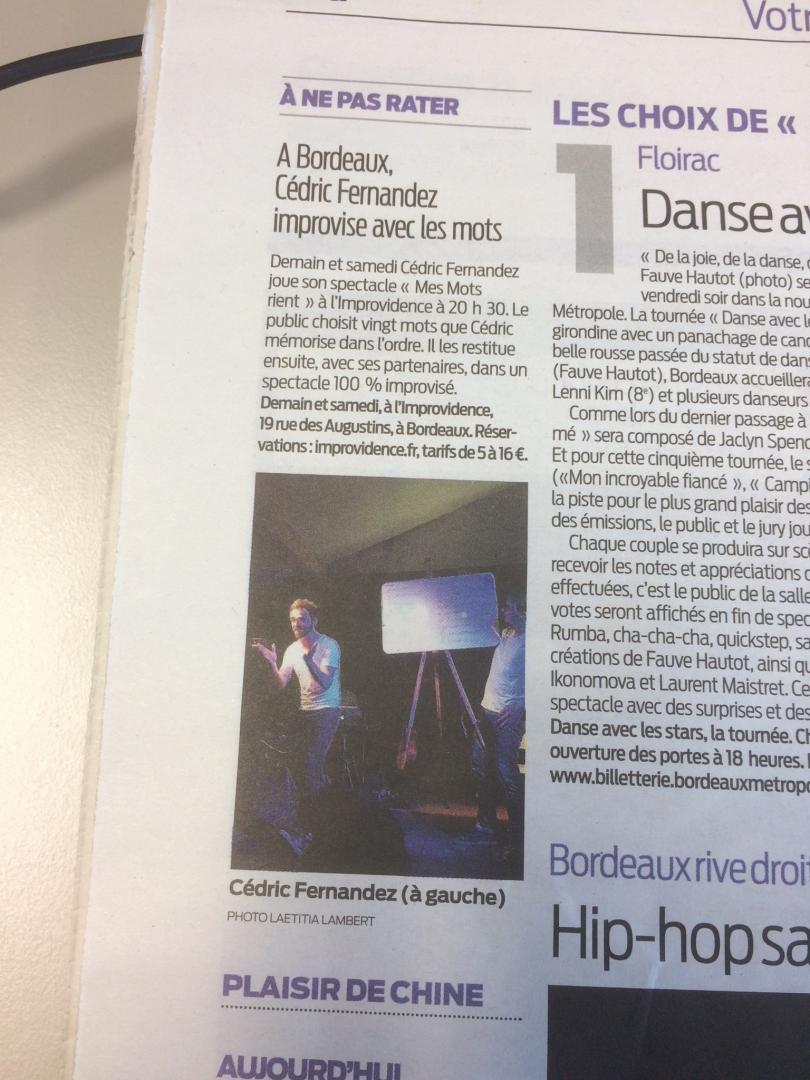 Article Journal Sud-Ouest MMR Bordeaux