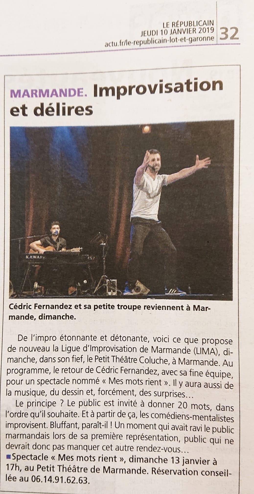 Journal Le Républicain du 10 janvier 2019