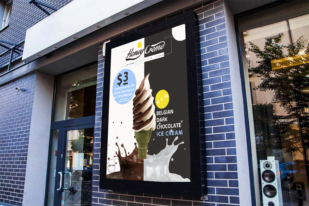 Honey Creme Poster Design