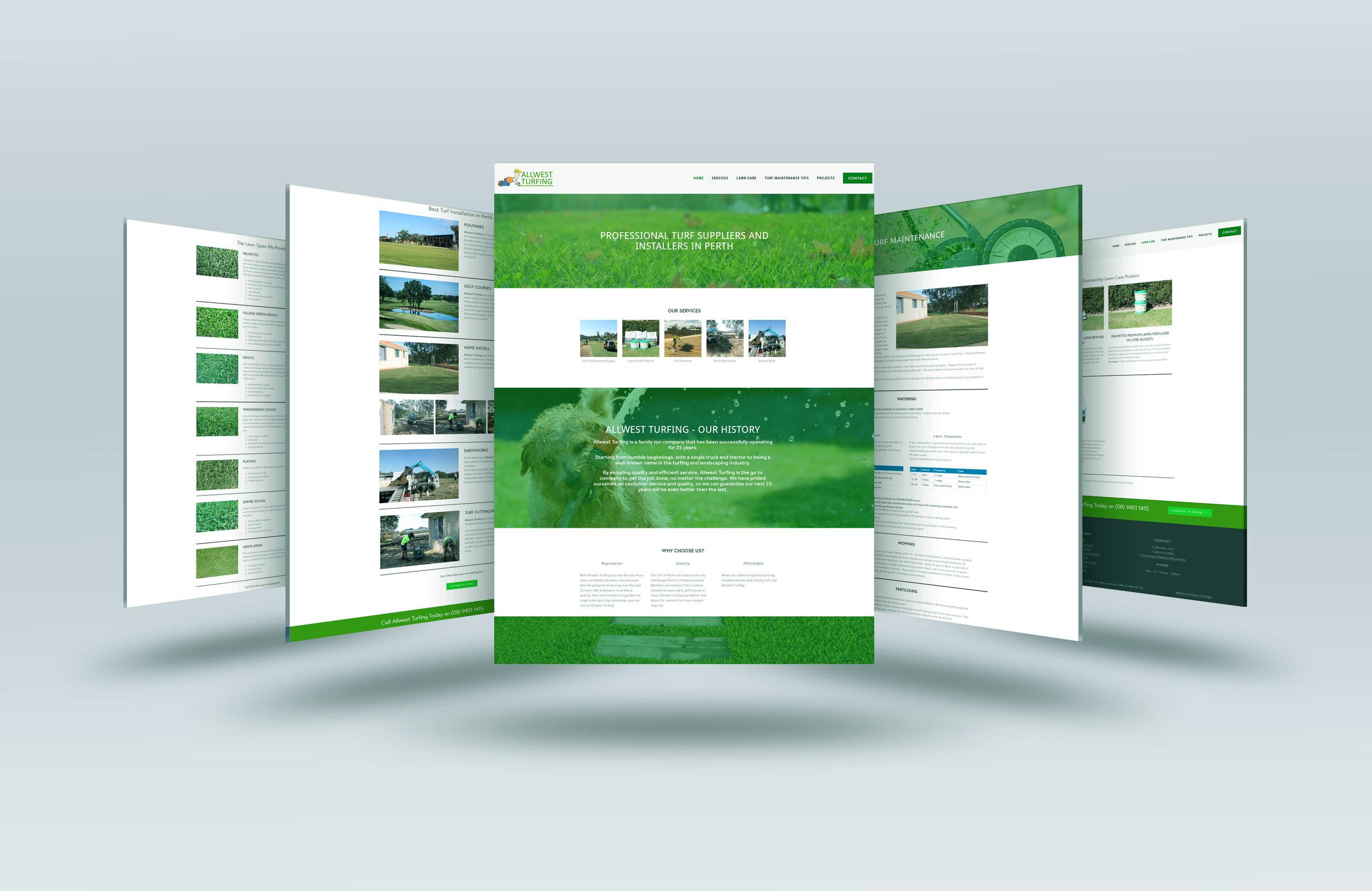 Allwest Turfing Website