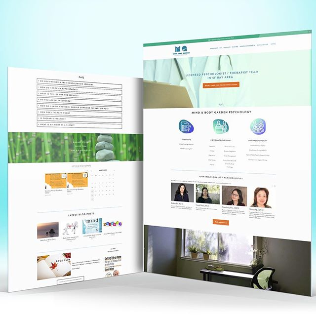 Website design for Mind Body Garden Psychology which services San Fran South Bay and LA area.