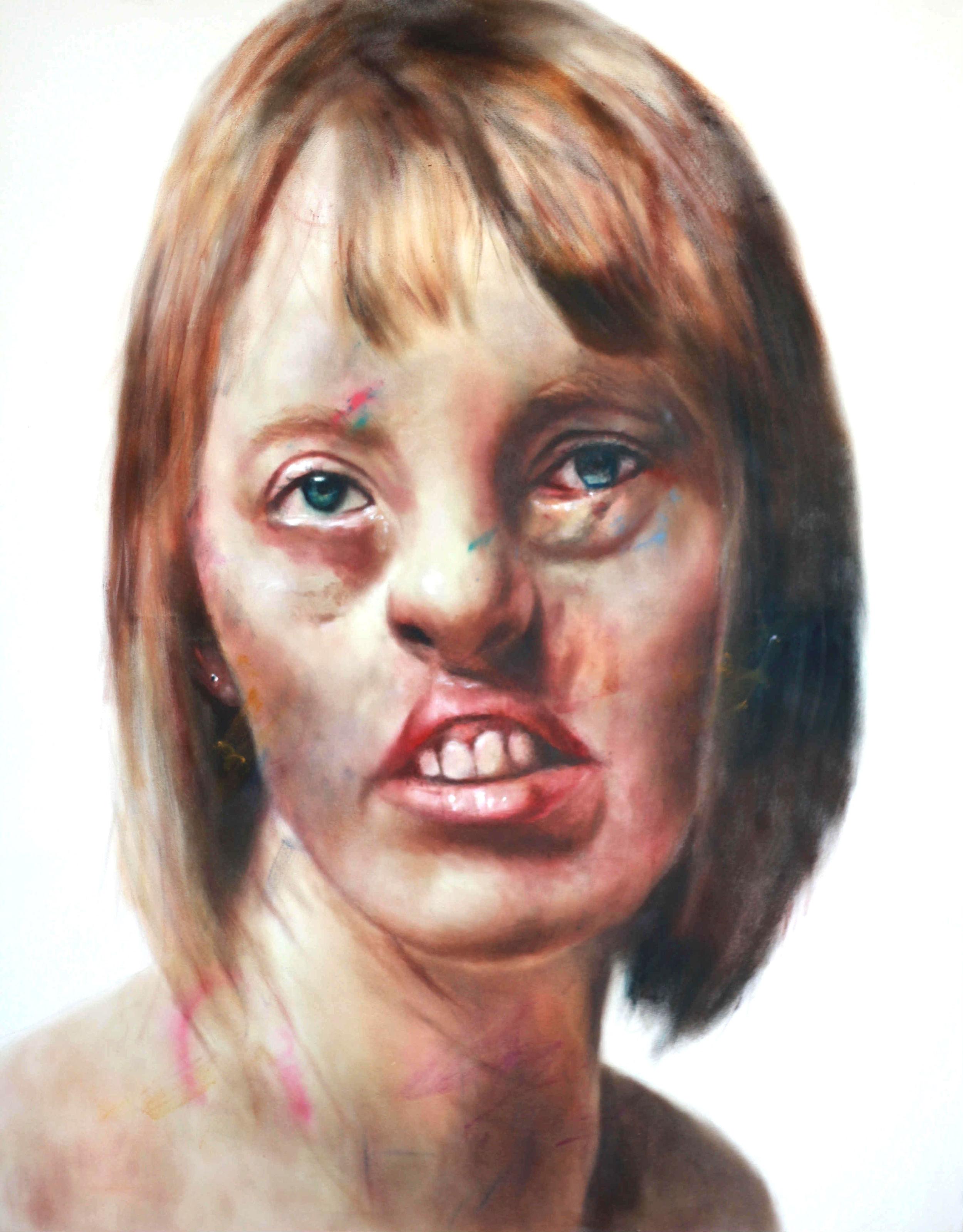 Amanda, 208x150cm, oil on canvas Stolen Faces series