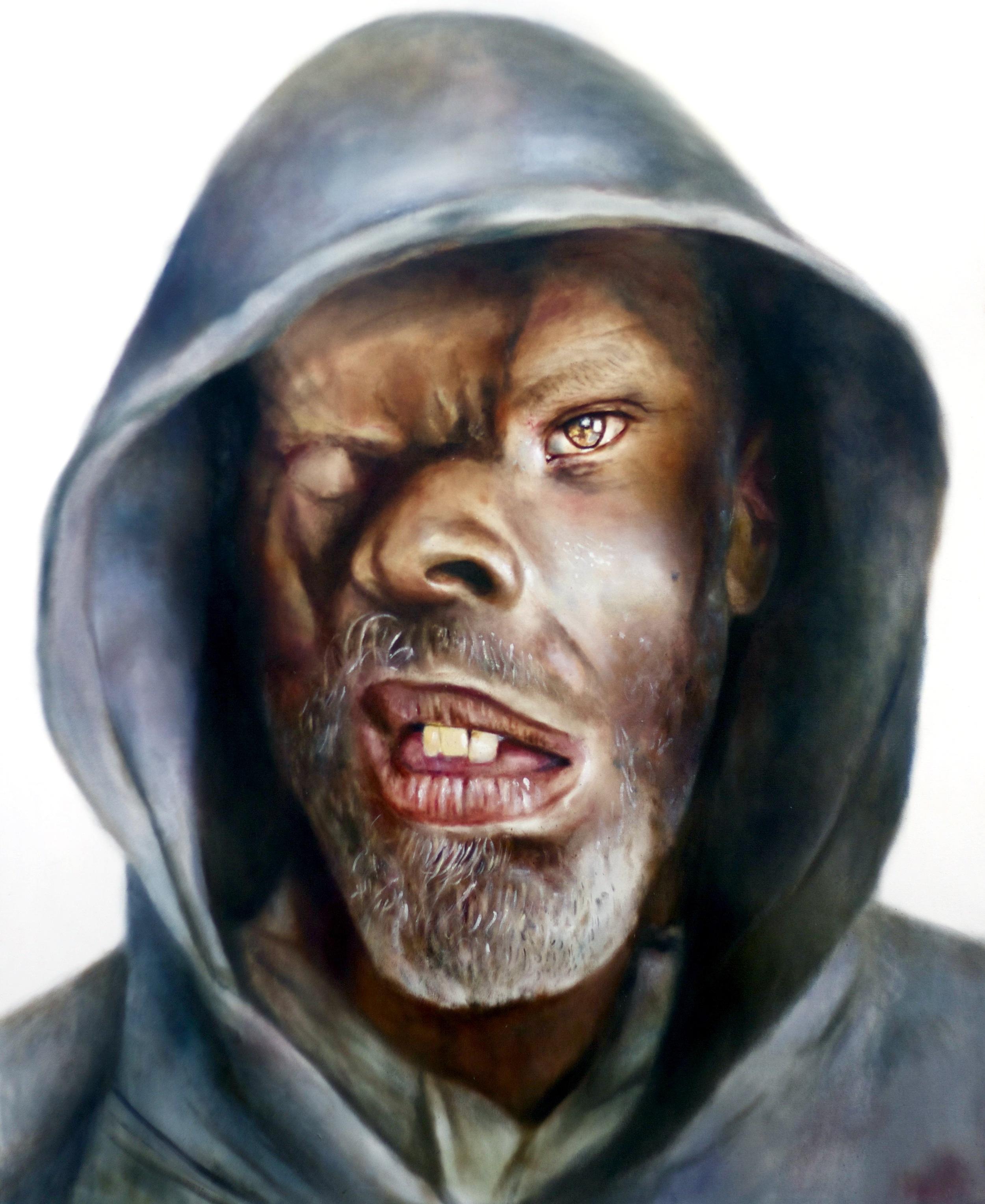 Jerry, oil on canvas 208x160cm  Stolen Faces Series