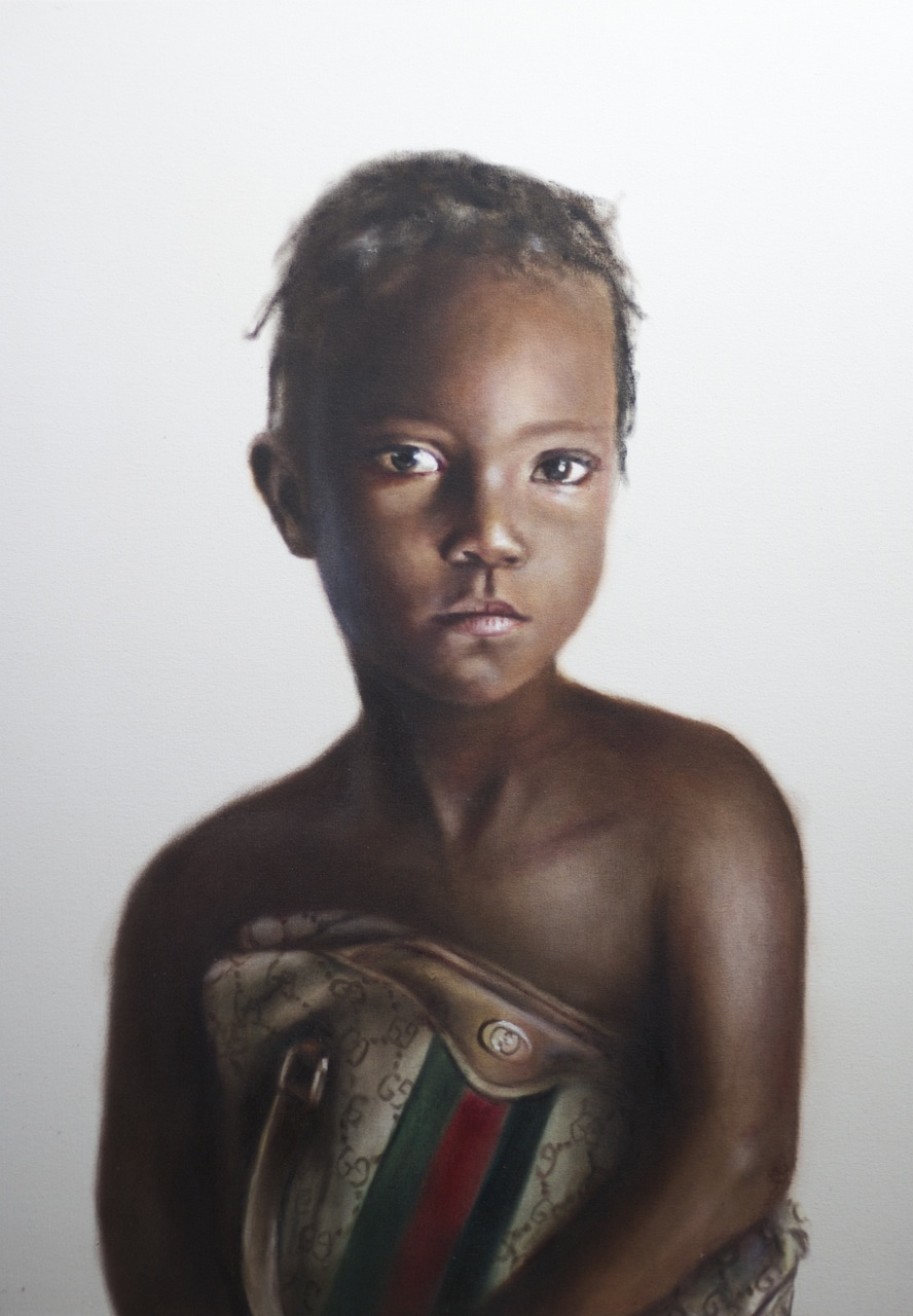 Nakaia, oil on canvas SOLD to George Lucas  Brand for Life series