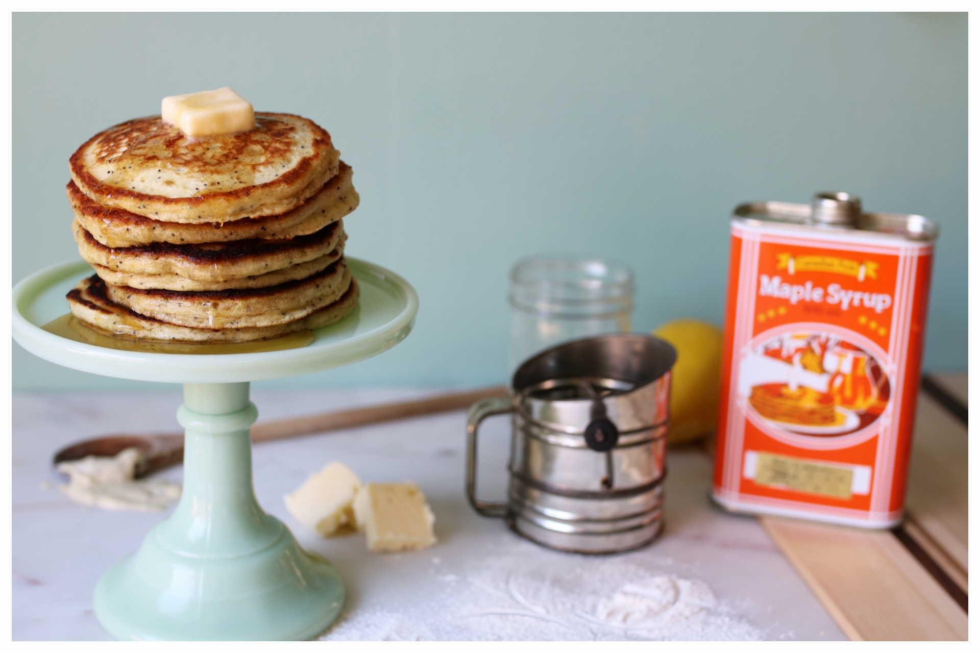 Lemon Poppy Seed Pancakes