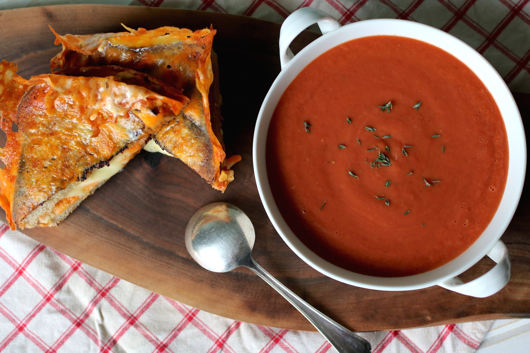 Roasted Tomato Soup (with the crispiest grilled cheese on the side)