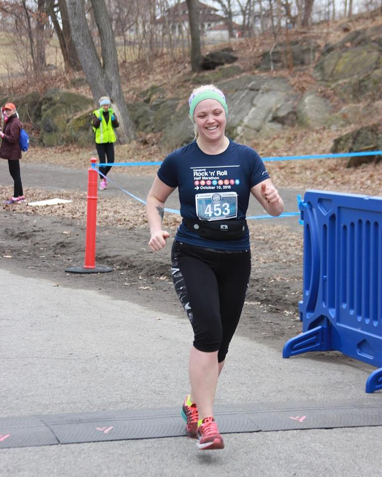Check me out crossing the finish line after my first Marathon (that's 26.2 miles people!) in Central Park this past February! #stillproud