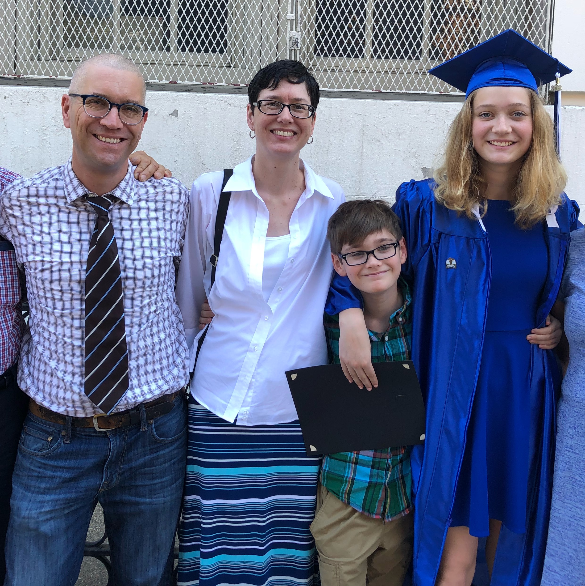 Neil Carlson, Erin Carney and Kids