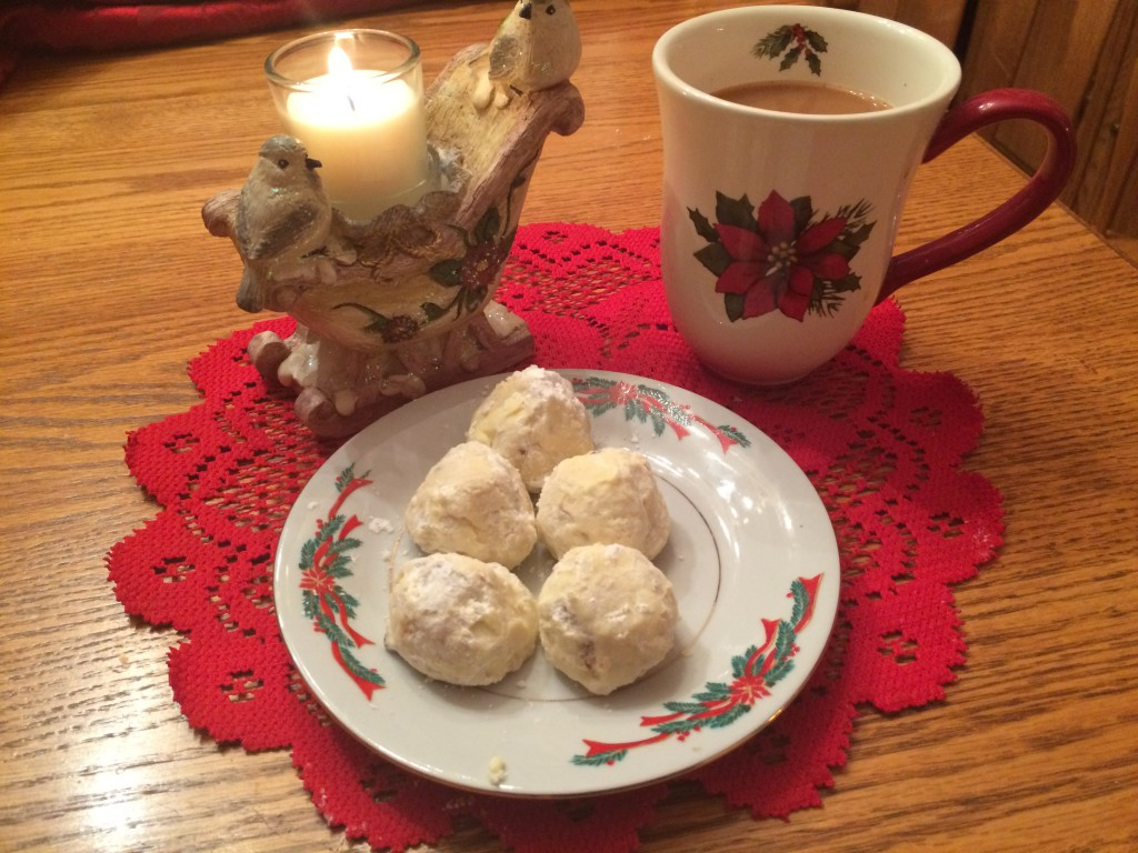 The first cookies I make each year--Mama's snowballs.