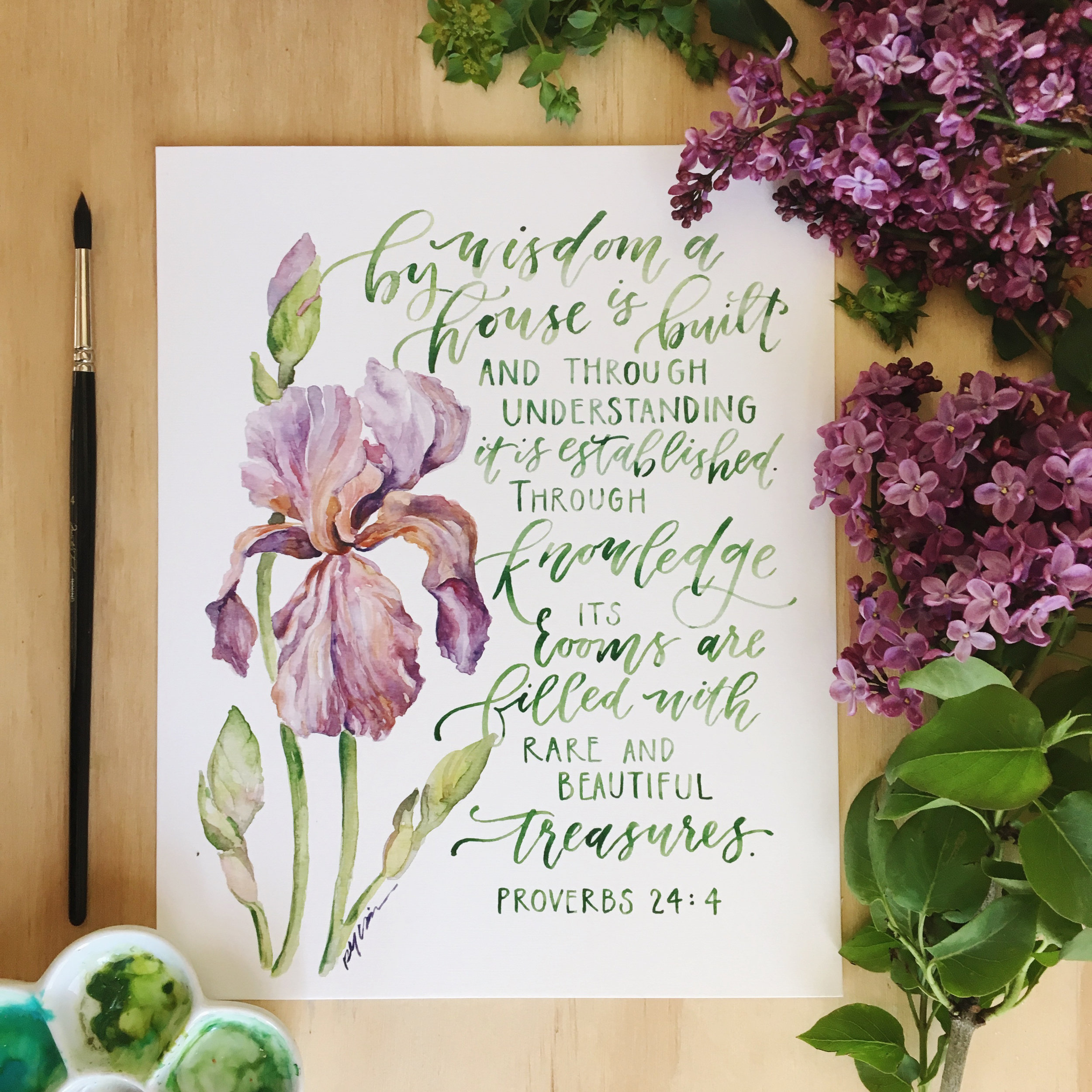 And this is the amazing print she's made of my verse! Love it so much--and you can get a copy at her shop. Enjoy!