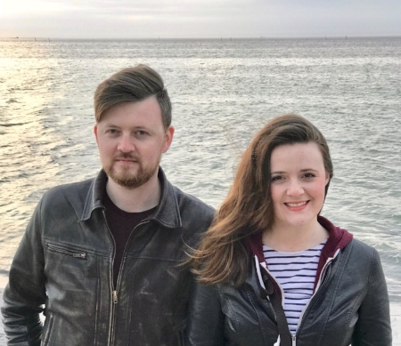 Two Benedictions: Joel and Joy with original music on the shores of bonnie St. Andrews.