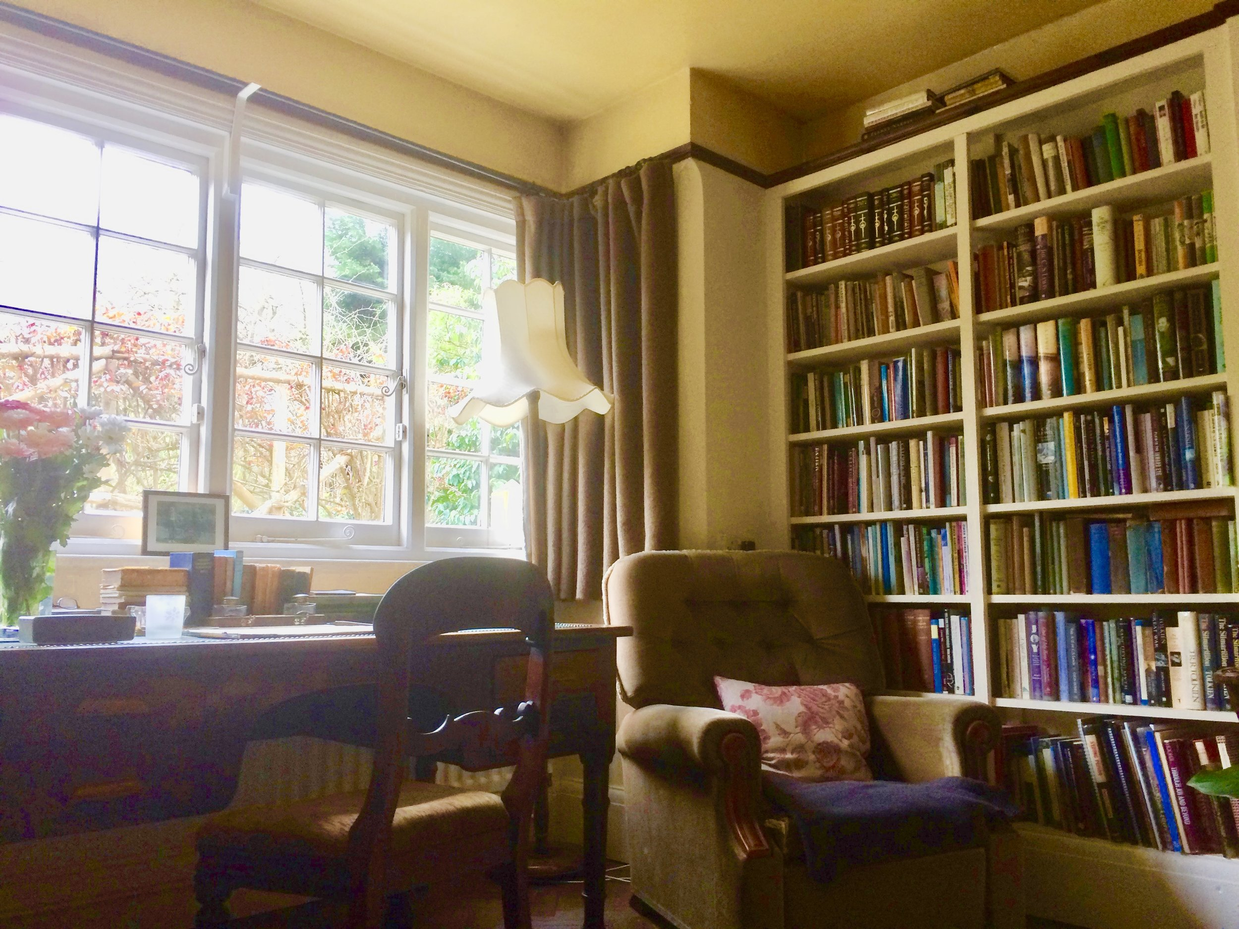 The Sitting Room where C.S. Lewis wrote his books at his home, the Kilns.