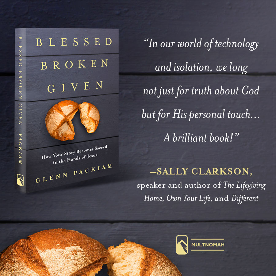 I so enjoyed talking with Glenn Packiam on my podcast today about the beautiful, life-giving concepts he shares in his new book. I pray the podcast will be of great encouragement to you as you continue to know God's blessing and then become bread of life, because of His presence through You, to those who long for His love, light, satisfying love.