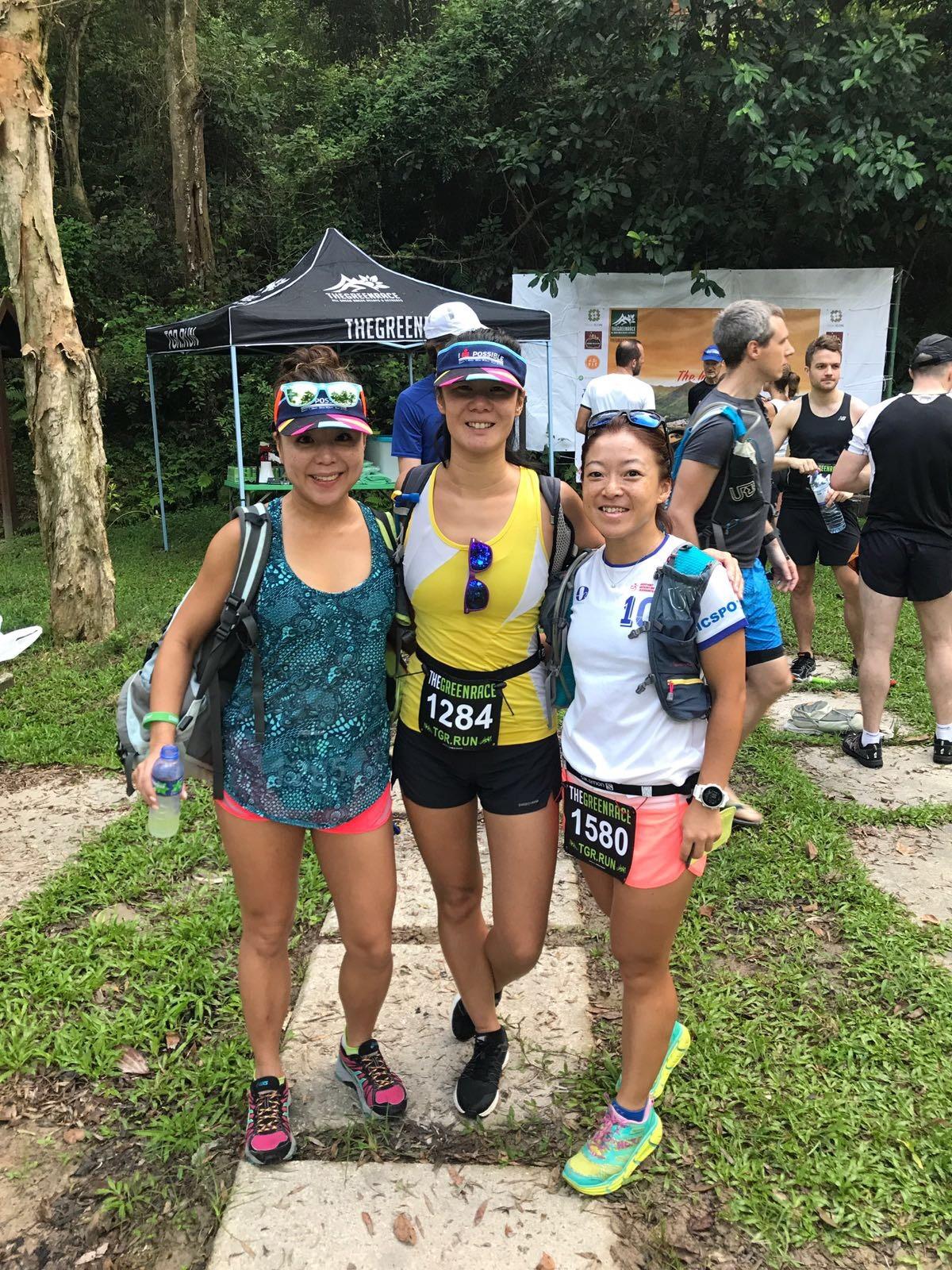 Josie farewell race is 30k mountain marathon with Janice and Gigi