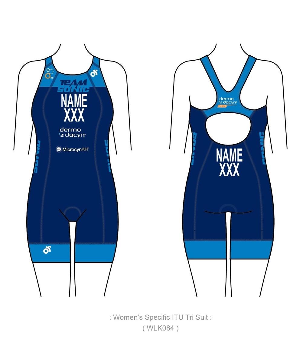 ITU female trisuit $1200