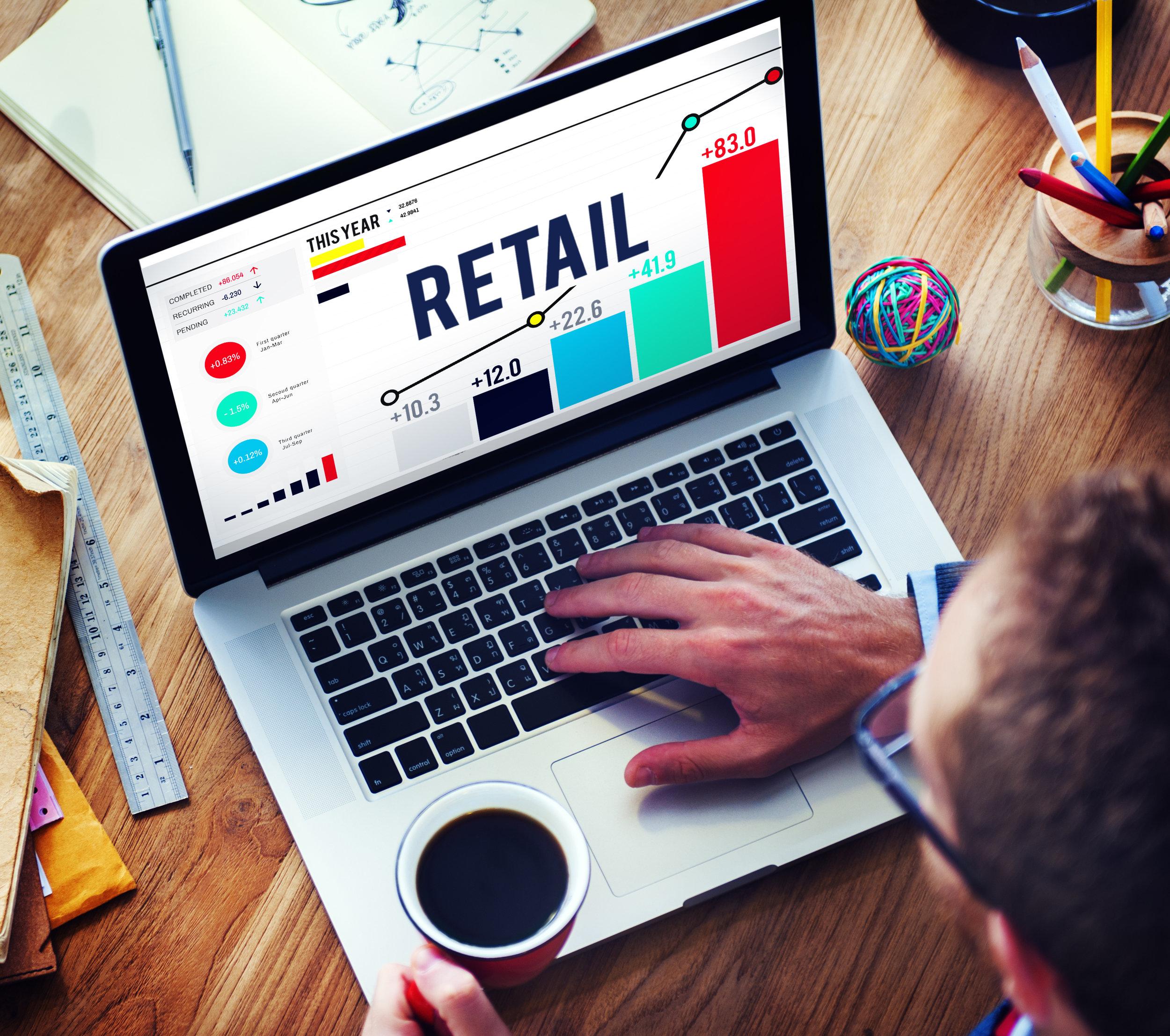 Man doing online retail training