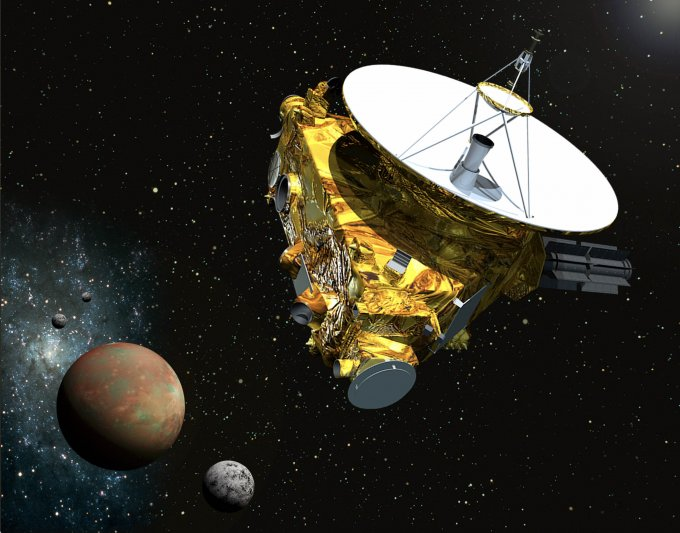 An Artist's Concept of New Horizons at Pluto.  NASA/JPL