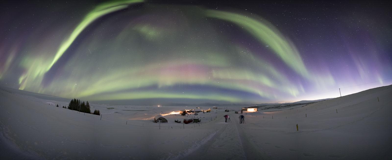 Aurora panorama of G3 major storm
