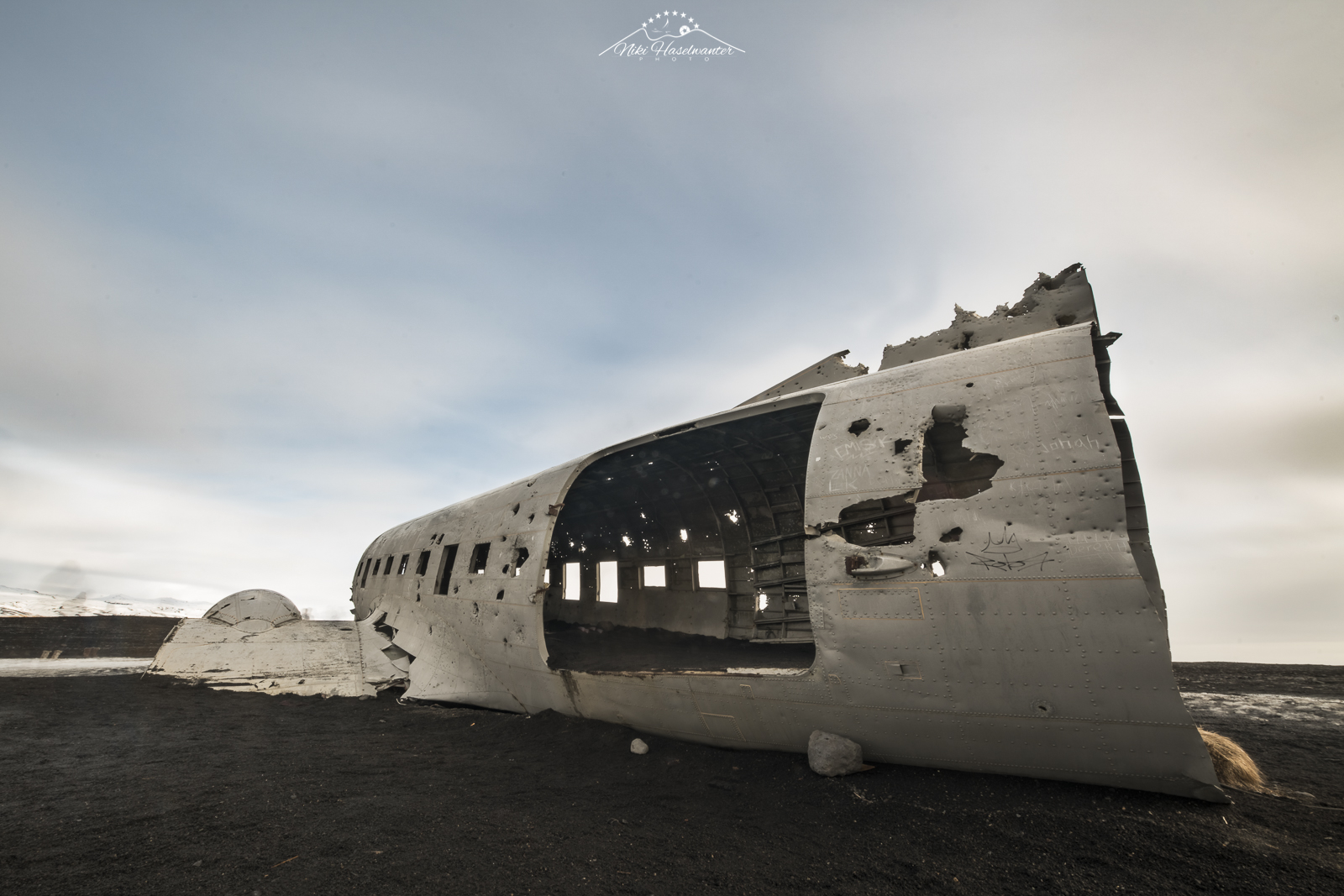 The famous plane-wreck of iceland