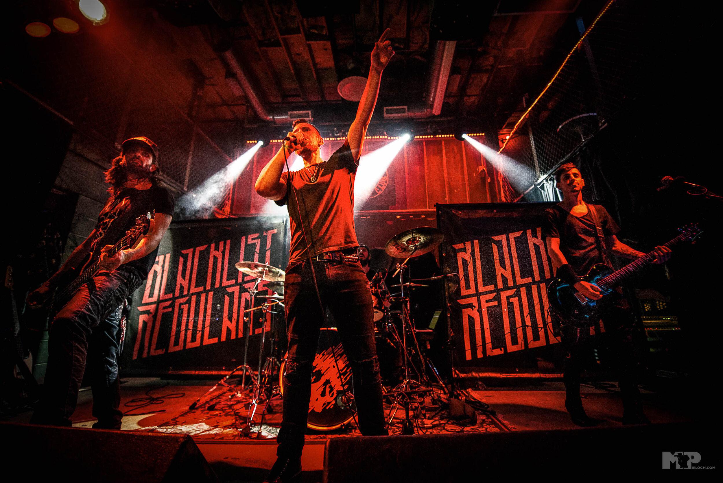 Blacklist Regulars live at Reggies Rock Club. Direct support for Meytal.