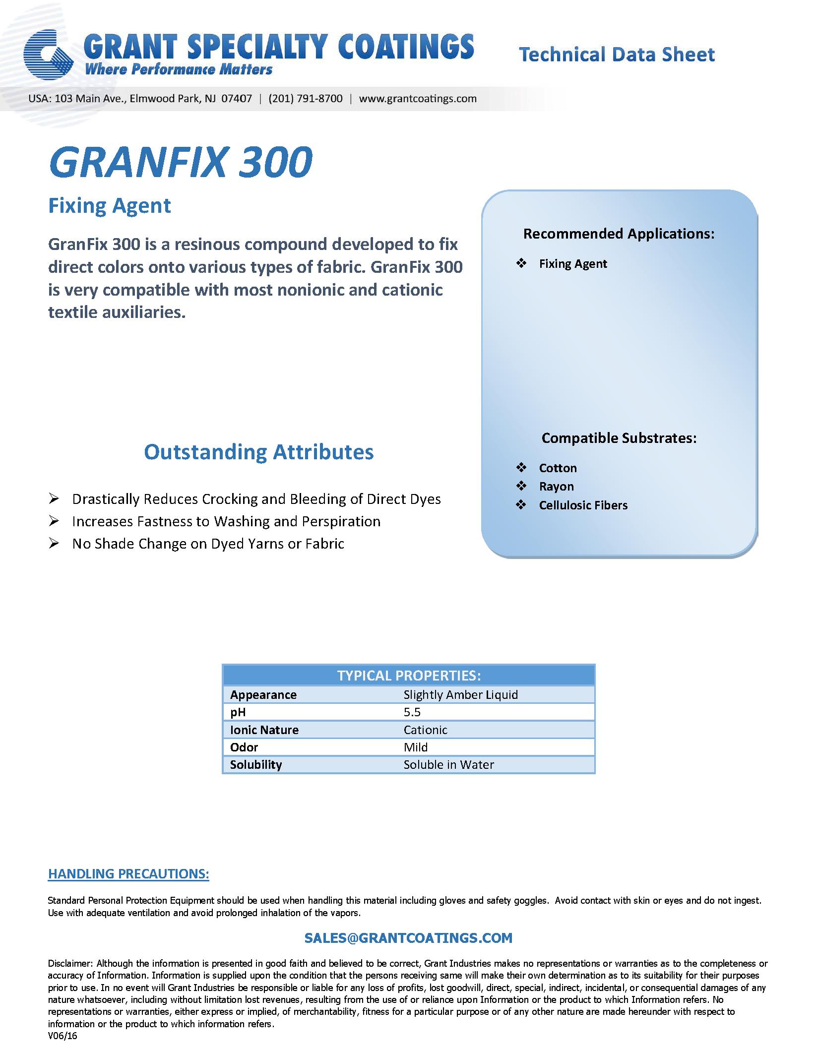 Textile Auxiliary Fixing GranFix 300