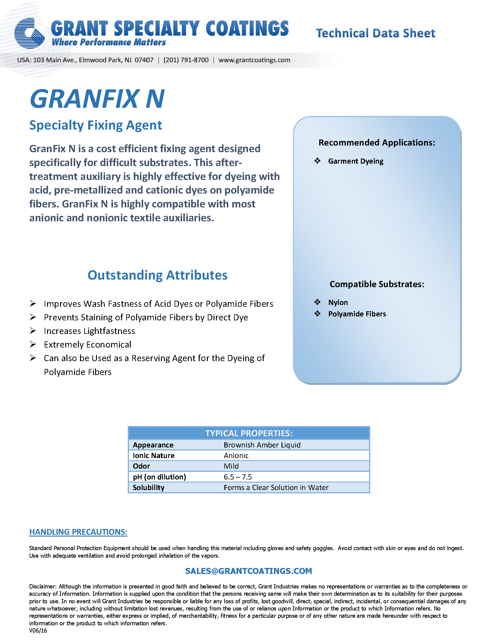 Textile Auxiliary Fixing GranFix N