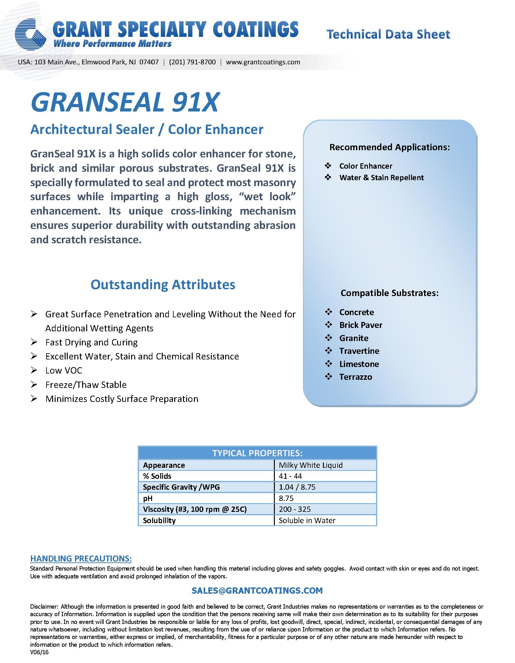 Architectural Sealer Color Enhancer GRANSEAL 91X